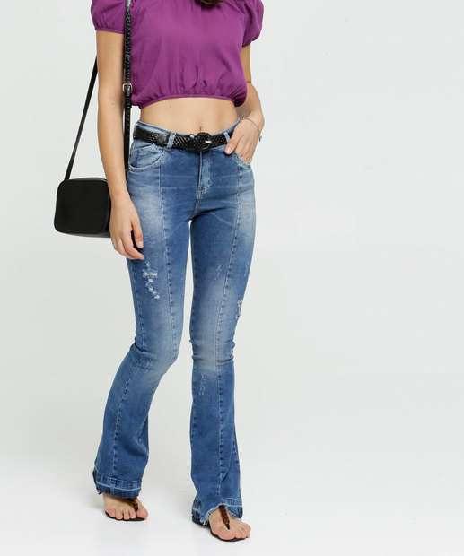 Image_Calça Flare Feminina Zune Jeans By Sabrina Sato