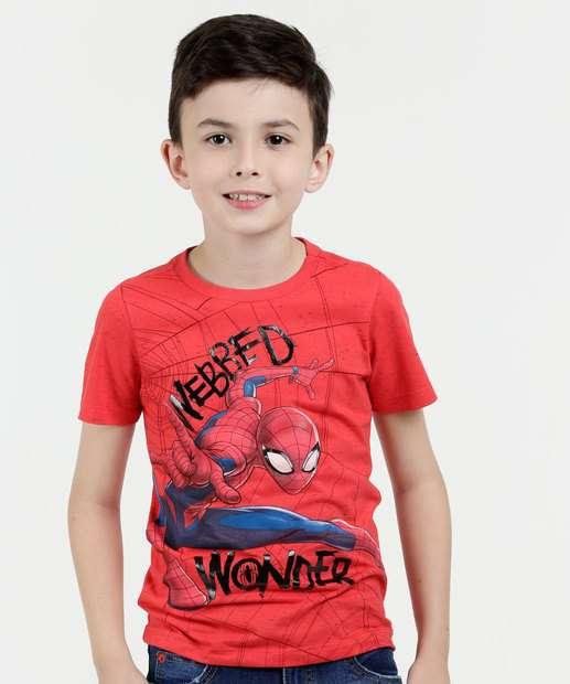 Image_Camiseta Infantil Estampa Homem Aranha Manga Curta Marvel