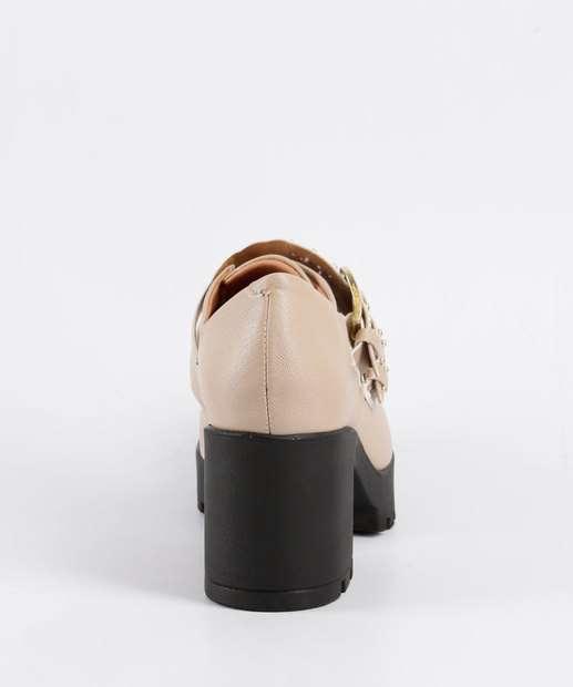 Feminino Tratorado Sapato BEGE Vizzano Tachas Tratorado Vizzano Feminino 1294102 1294102 Sapato Sapato Tratorado BEGE Tachas Feminino Tachas SzyqA