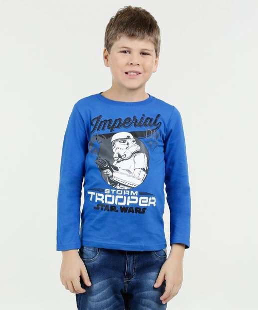 Image_Camiseta Infantil Star Wars Manga Longa Disney