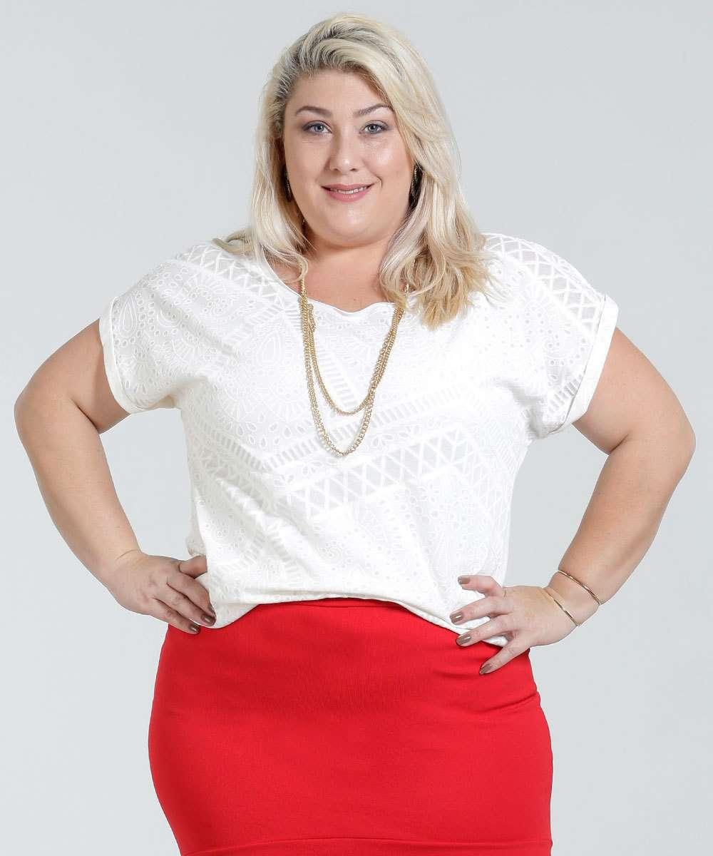 467908fa81 blusa feminina estampada Plus Size marisa