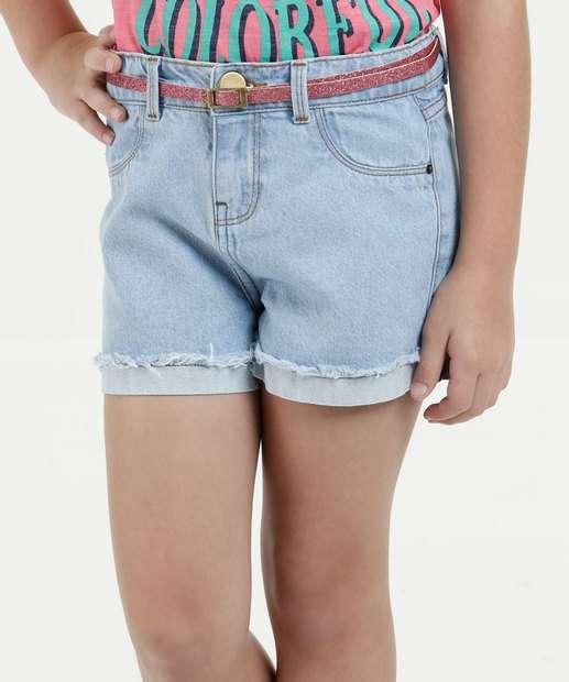 Image_Short Infantil Jeans Cinto Marisa