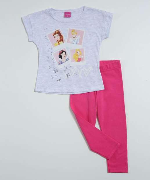 Image_Conjunto Infantil Estampa Princesas Disney