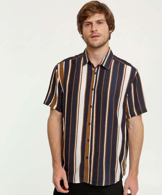 Image_Camisa Masculina Listrada Manga Curta MR