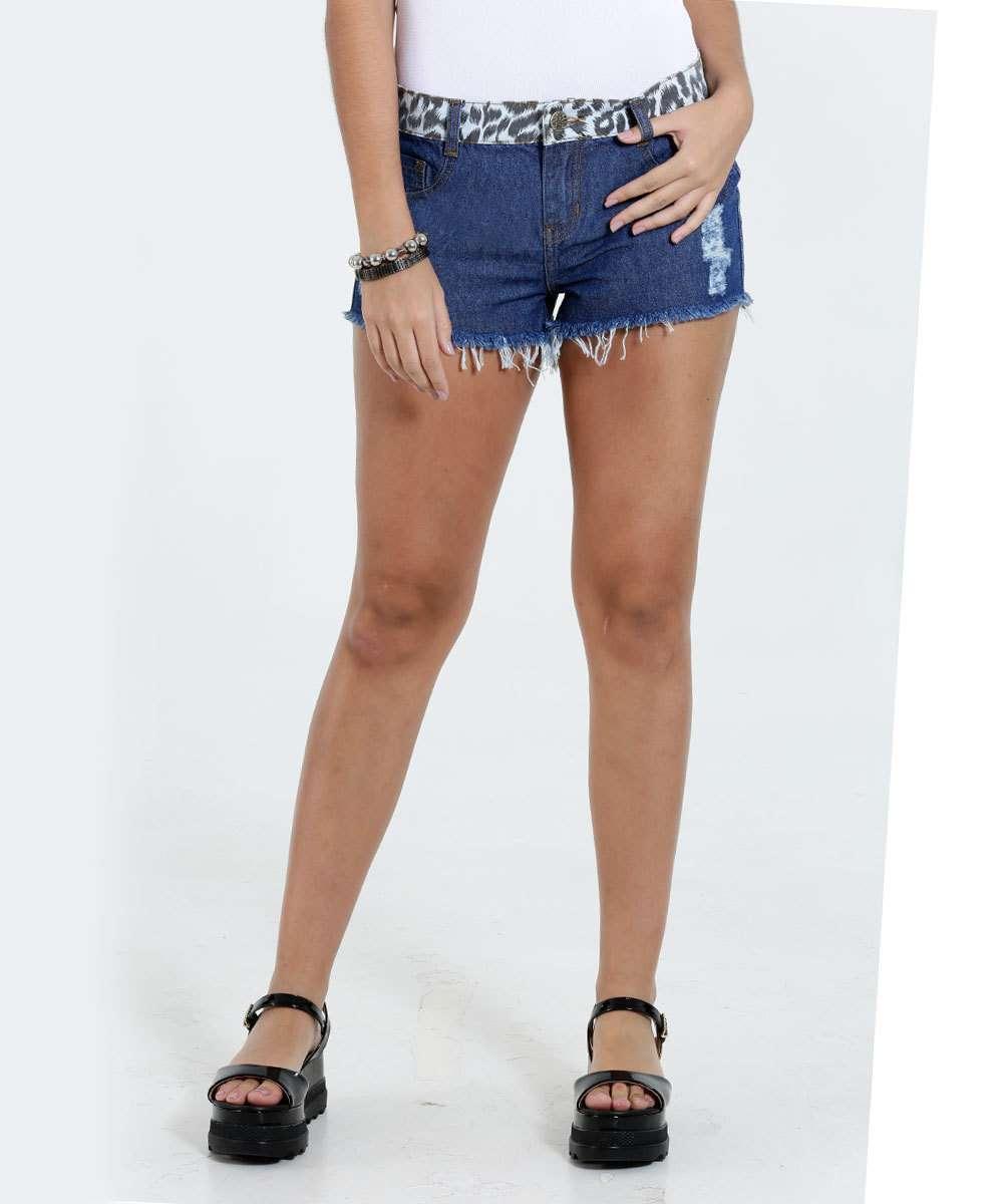 Image_Short Feminino Jeans Estampa Onça Destroyed Marisa
