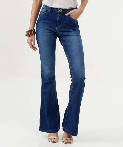 Image_Calça Feminina Flare Cintura Média Five Jeans