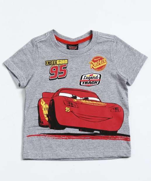 Image_Camiseta Infantil Manga Curta Carros McQueen Disney