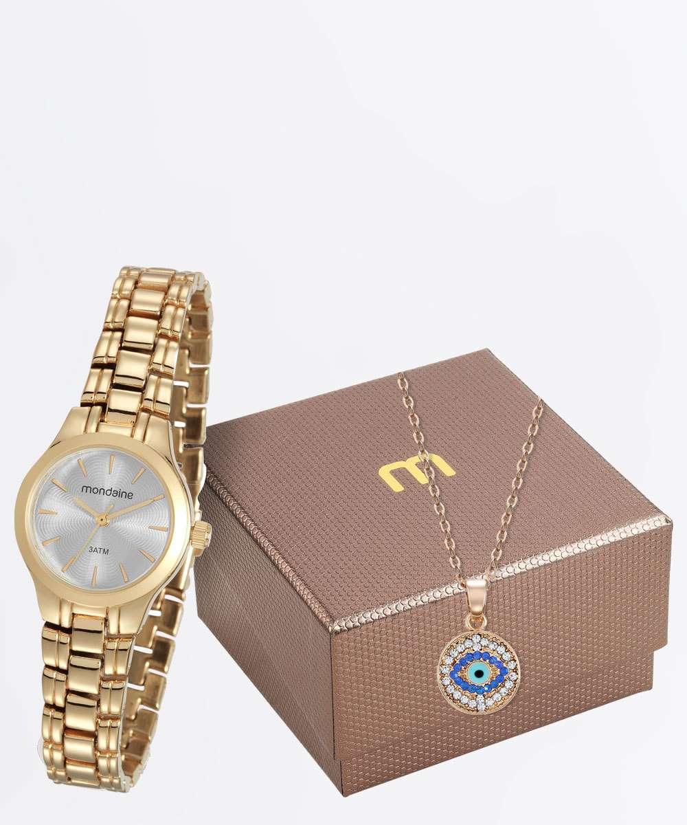 Kit Relógio Feminino Mondaine 53539LPMVDE1KA