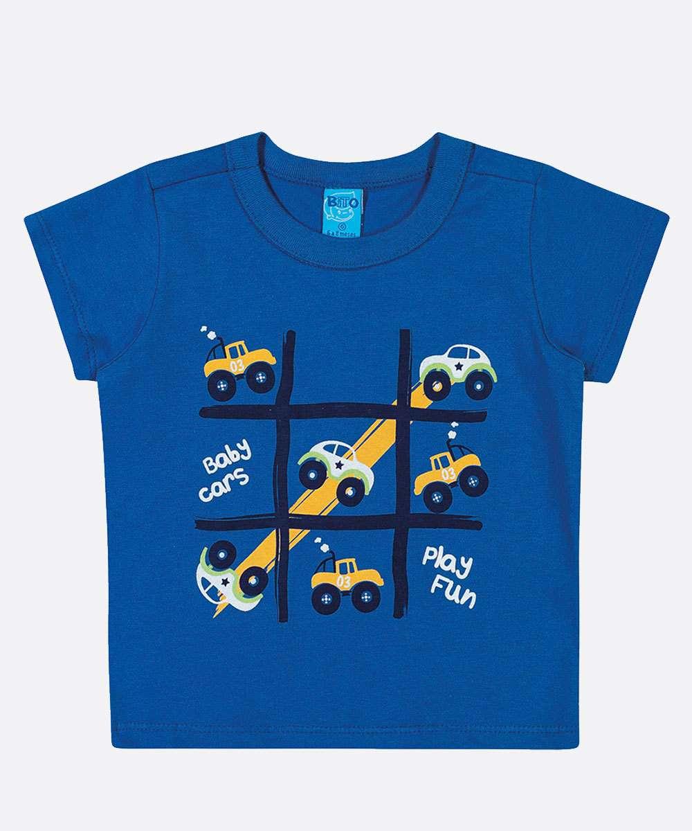 Camiseta Infantil Bebê Estampada Manga Curta Tam 0 a 10 Meses