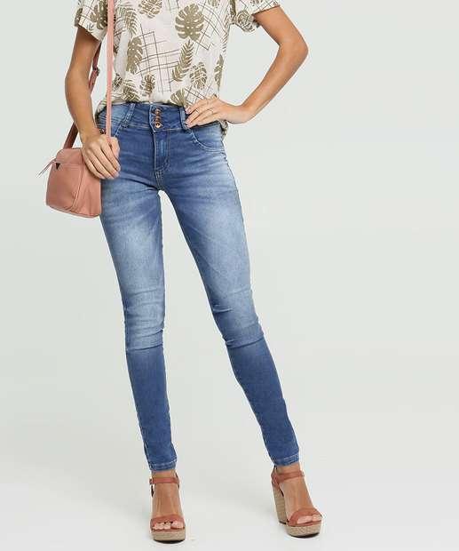 Image_Calça Jeans Skinny Feminina Strass Biotipo