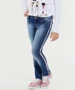Calça Infantil Jeans Faixa Marisa