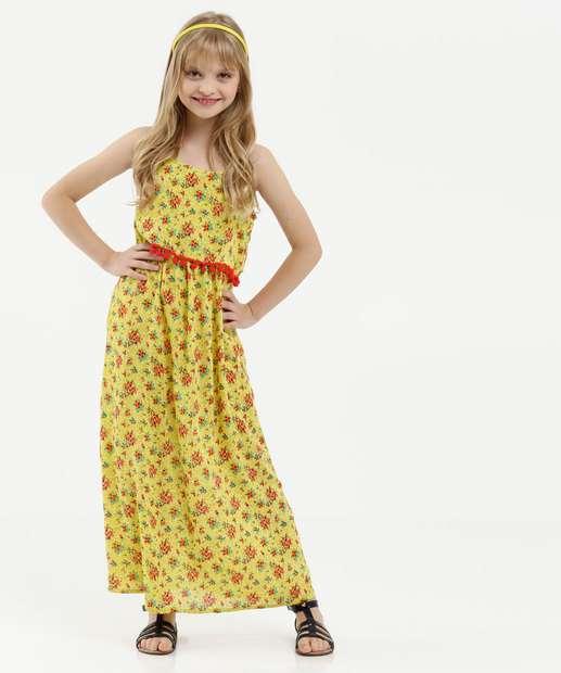 Image_Vestido Infantil Estampa Floral Alças Finas Marisa