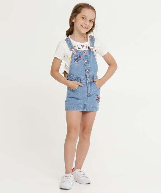 Image_Salopete Infantil Jeans Bordado Floral Marisa