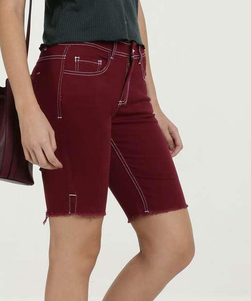 1f54cb082df Bermuda Feminina Jeans Cintura Média Marisa