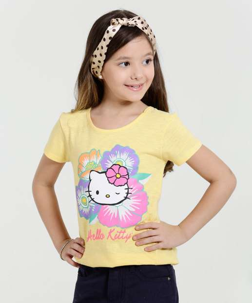 Image_Blusa Infantil Manga Curta High Low Hello Kitty