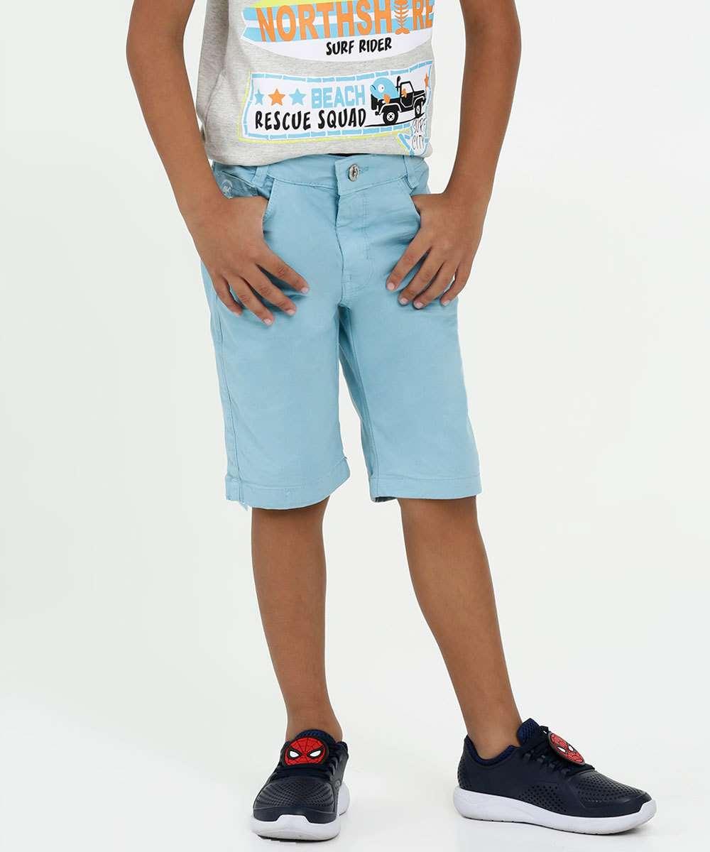 Bermuda Infantil Sarja Bolsos