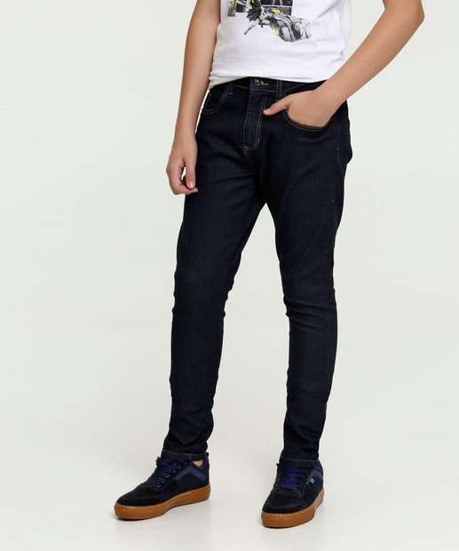 Image_Calça Juvenil Jeans Bolsos MR