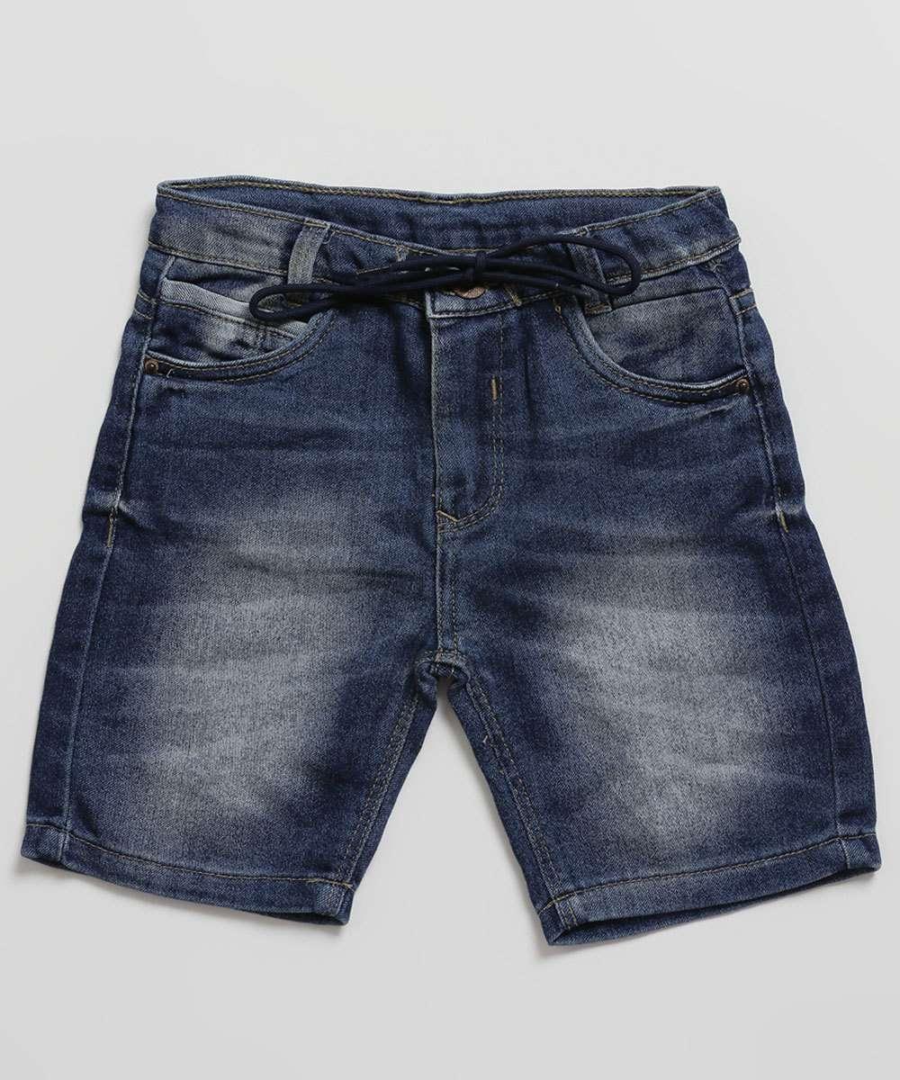 Bermuda Infantil Jeans Stretch Tam 1 a 3