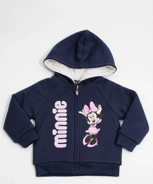 Image_Casaco Infantil Moletom Capuz Minnie Disney