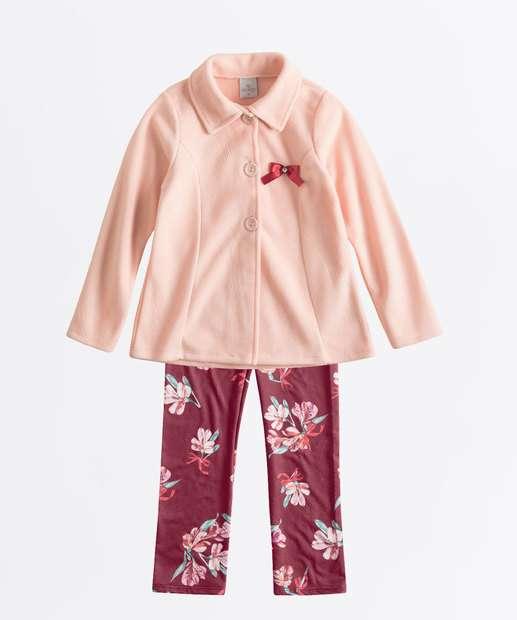 Image_Conjunto Infantil Soft Estampa Floral Manga Longa