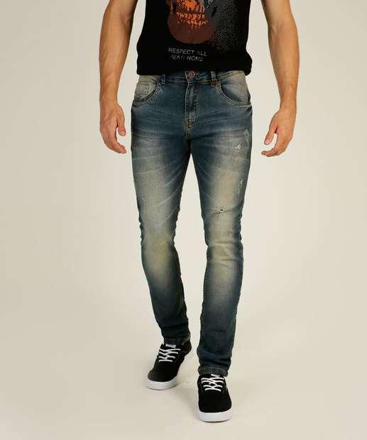 Image_Calça Masculina Jeans Puídos Reta Rock & Soda