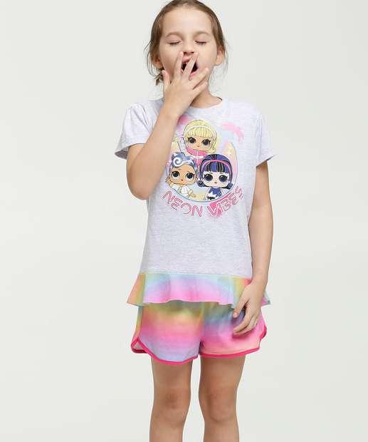 Image_Pijama Infantil Estampa Boneca Manga Curta Lol