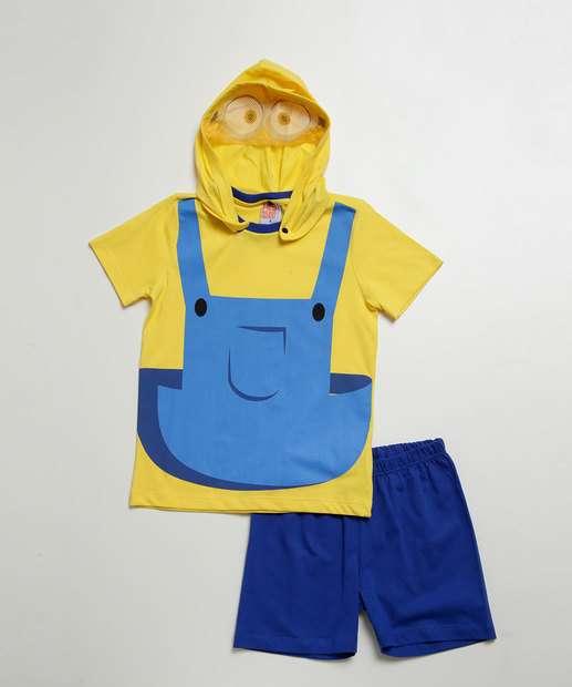 Image_Pijama Infantil Estampa Minions Capuz Manga Curta Universal