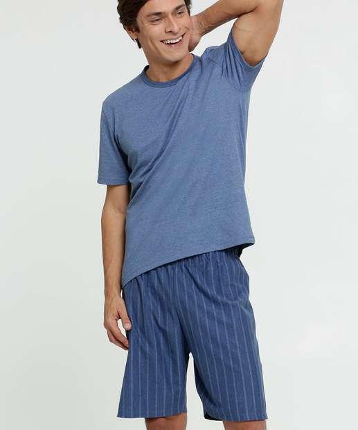 Image_Pijama Masculino Listrado Manga Curta MR
