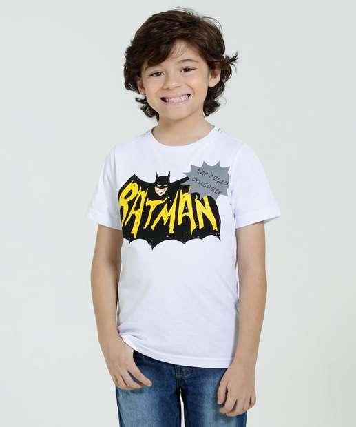 Image_Camiseta Infantil Manga Curta Estampa Batman Liga da Justiça