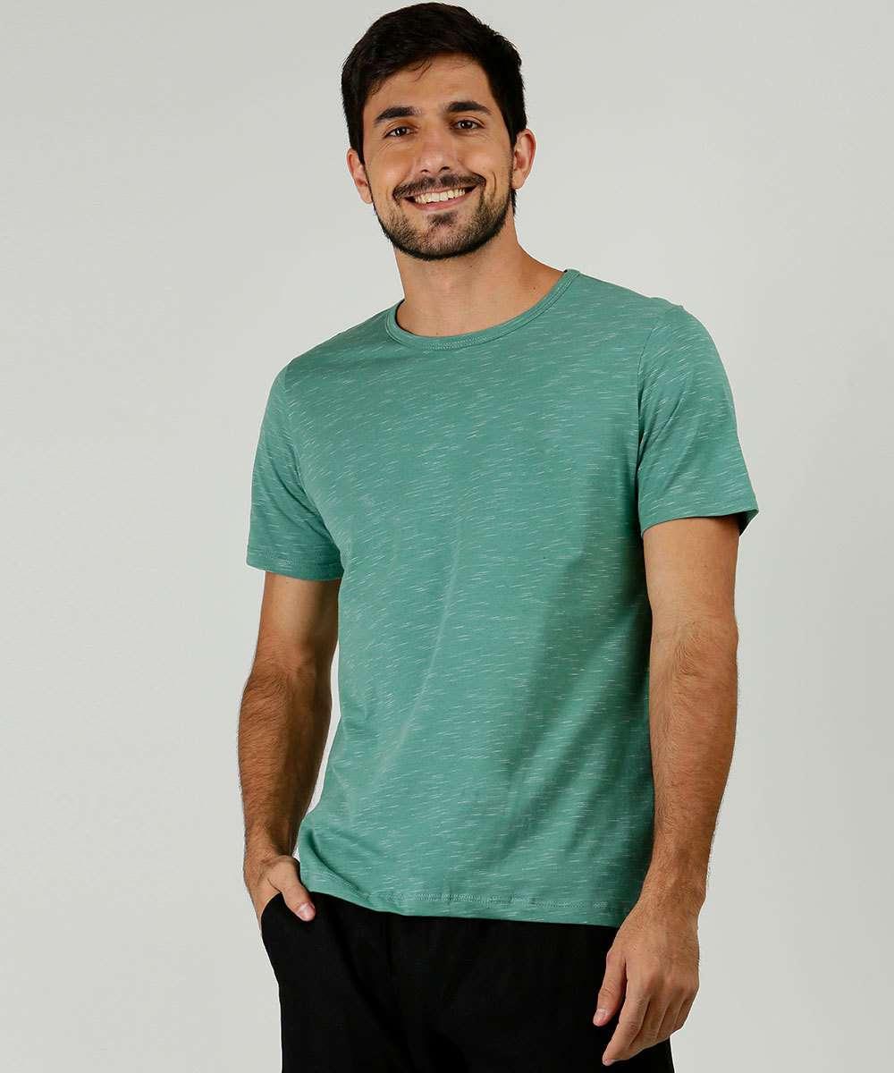 Camiseta Masculina Mescla Manga Curta