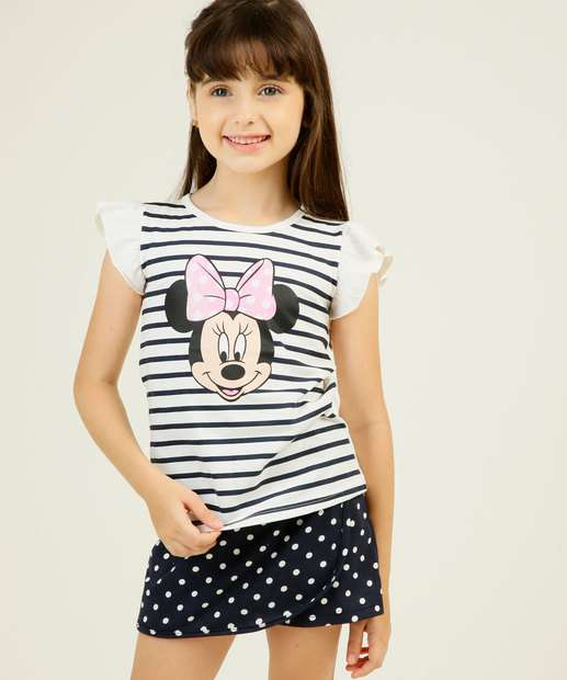 Image_Conjunto Infantil Estampa Minnie Manga Curta Disney Tam 1 a 4