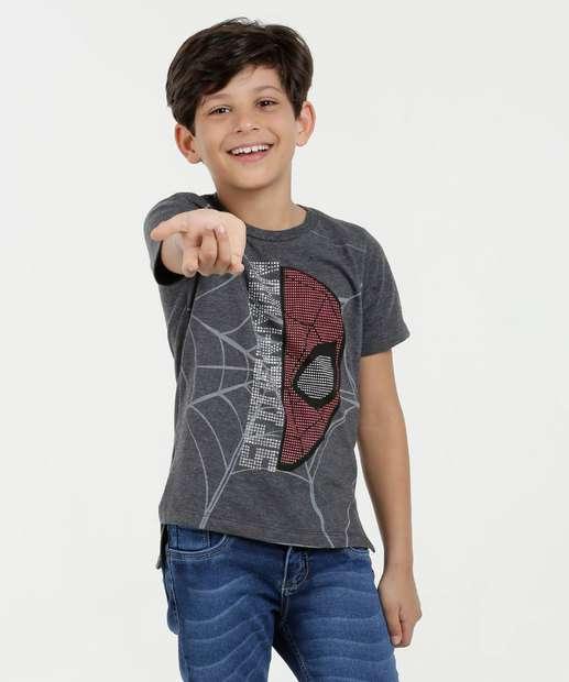 Image_Camiseta Infantil Homem Aranha Tachas Manga Curta Marvel