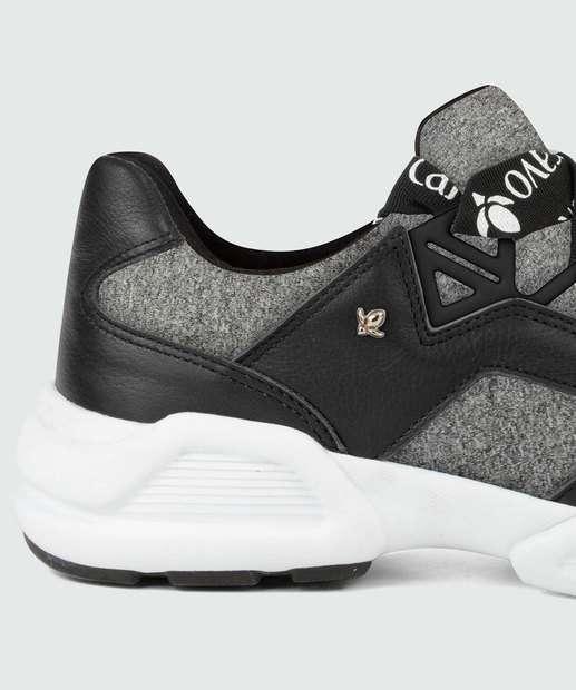 Tênis Feminino Tênis e CINZA Feminino 156305 Cravo Sneaker Canela Chunky O5q6RZcWR