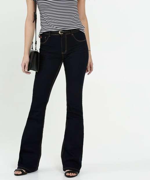 Image_Calça Feminina Jeans Cintura Média Flare Biotipo
