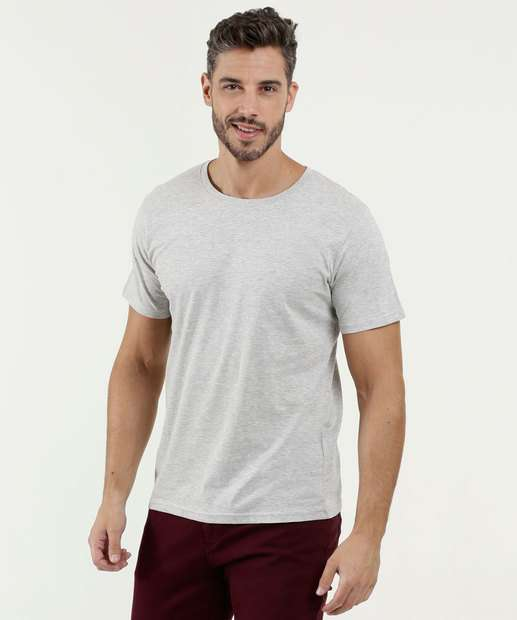 ddfb0f73cd Camiseta Masculina Básica Manga Curta