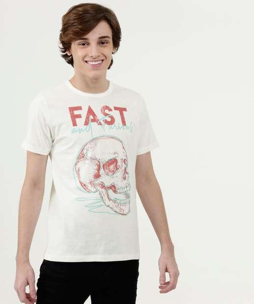 Image_Camiseta Juvenil Estampa Caveira Manga Curta