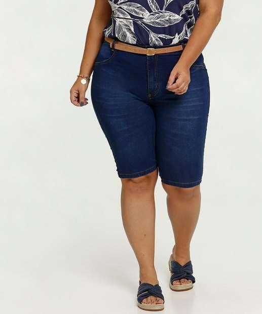 Image_Bermuda Feminina Jeans Cinto Plus Size