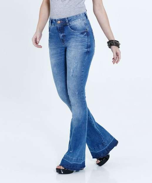 Image_Calça Feminina Jeans Flare Puídos Biotipo