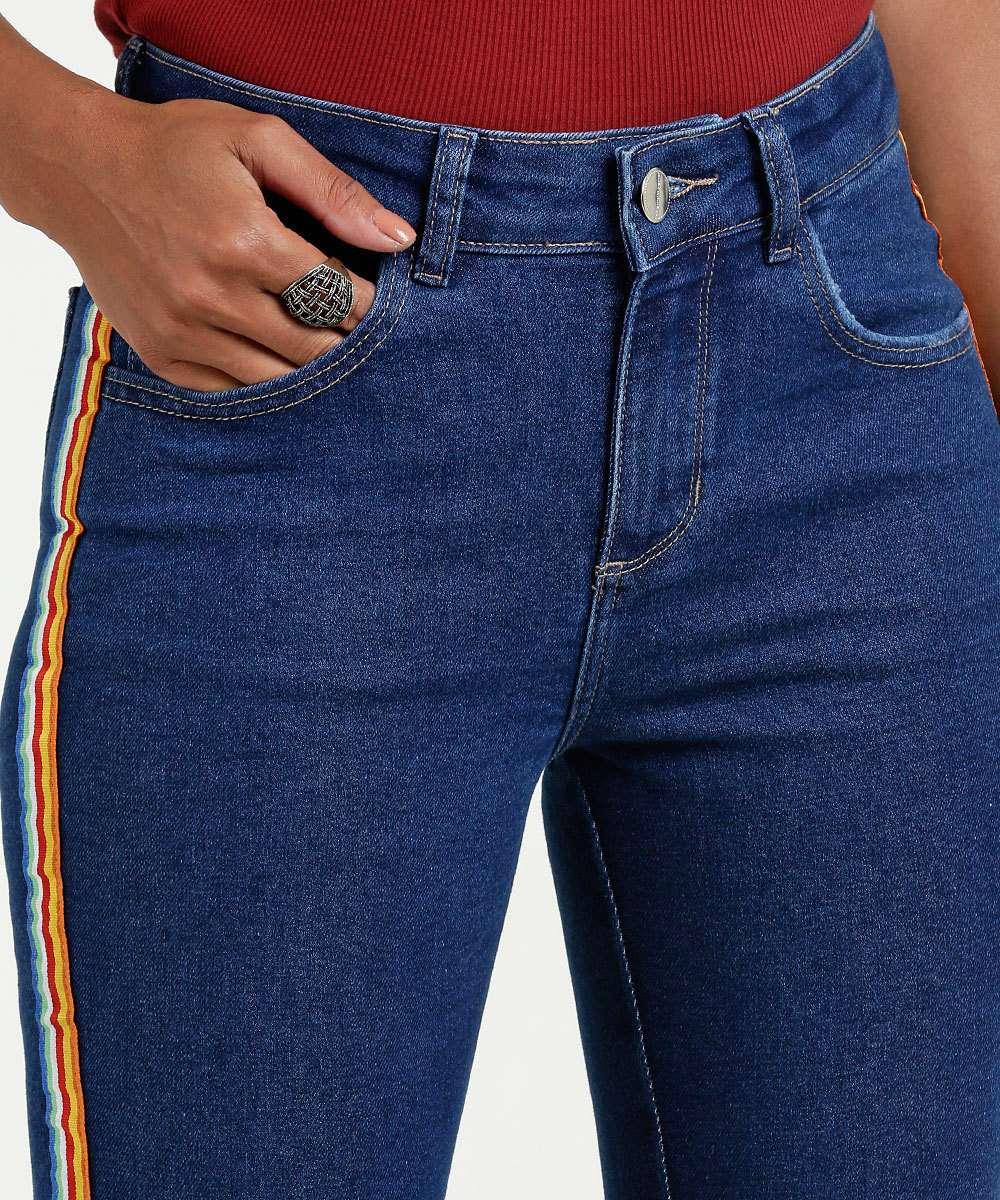 ebd155268 1; 2; 3; 4; 5; 6; 7. Compartilhar. adicionar aos favoritos produto  favoritado. 48% OFF. Calça Feminina Jeans Skinny Faixa Colorida Marisa