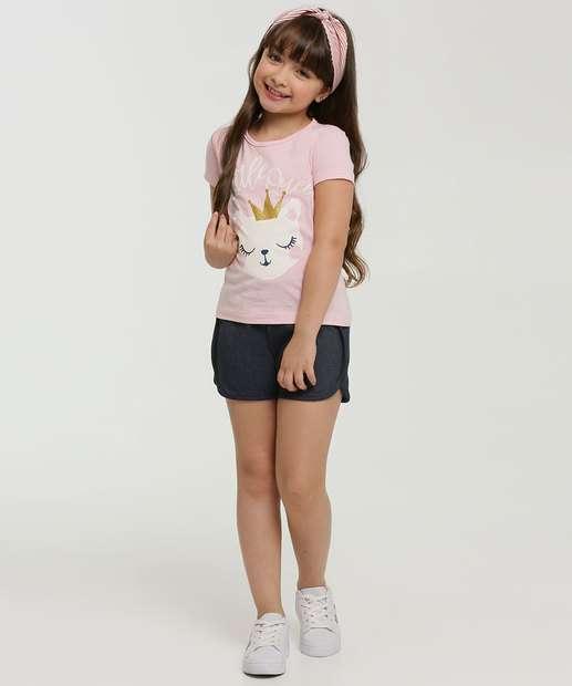 Image_Conjunto Infantil Estampa Gato Manga Curta Marisa
