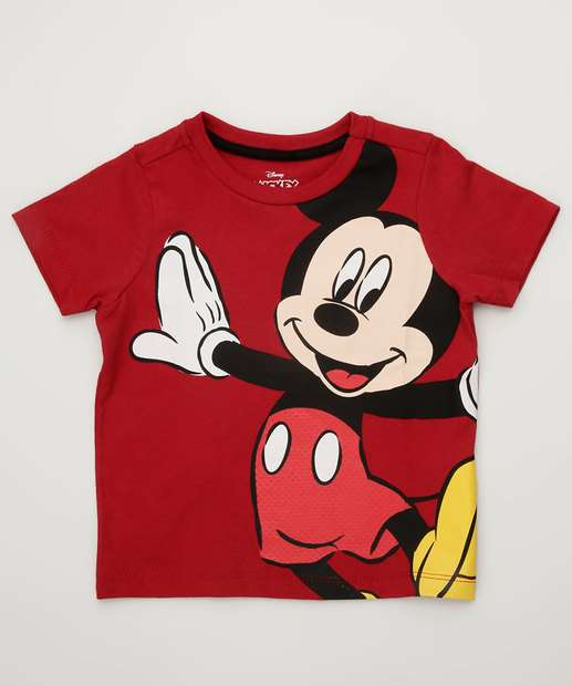 18e236f233 Camiseta Infantil Estampa Mickey Manga Curta Disney