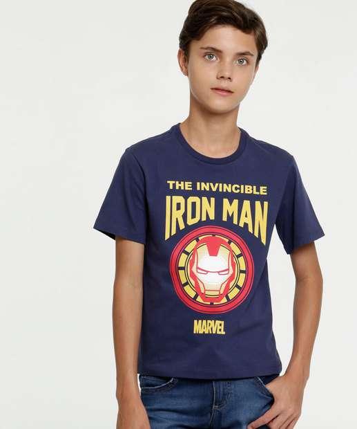 Image_ Camiseta Juvenil Estampa Homem de Ferro Manga Curta Marvel