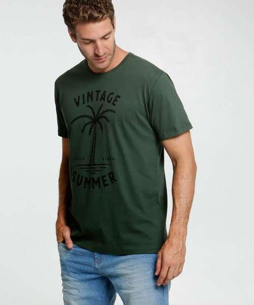 Image_Camiseta Masculina Estampa Coqueiro Costa Rica