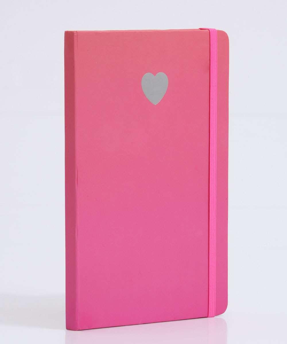 Caderneta Anotações Estampa Coração Marisa