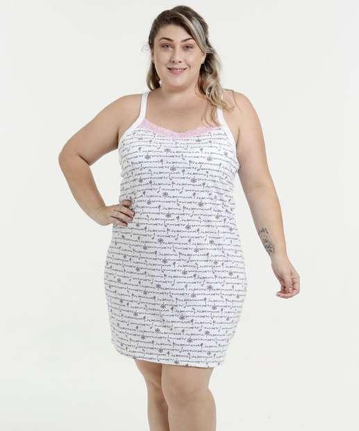 Image_Camisola Feminina Estampada Plus Size Alças Finas Marisa