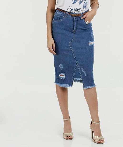 Image_Saia Feminina Midi Jeans Lápis Destroyed Razon