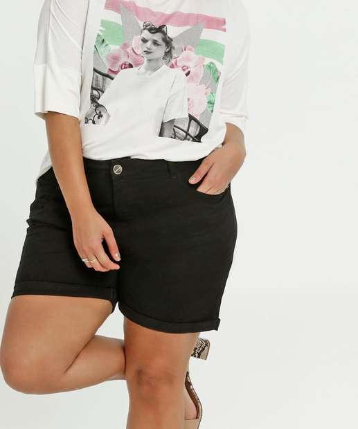 Image_Short Feminino Sarja Barra Dobrada Plus Size Marisa