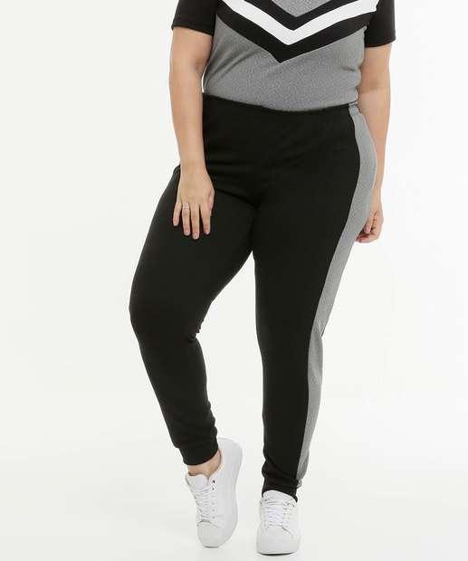 Image_Calça Plus Size Feminina Jogger Recorte