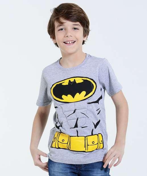 Image_Camiseta Infantil Músculos Batman Manga Curta Liga da Justiça