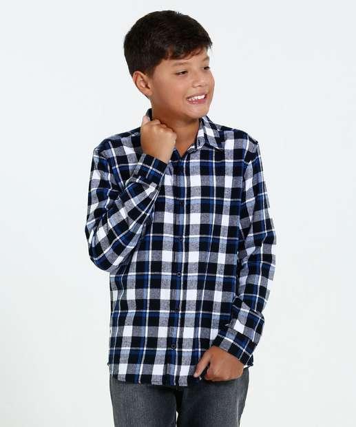 Image_Camisa Juvenil Estampa Xadrez Manga Longa  Marisa